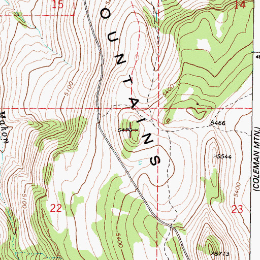 Topographic Map of Stinkingwater Mountains, OR