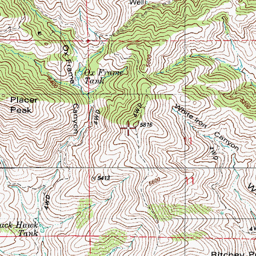 Topographic Map of Sierrita Mountains, AZ