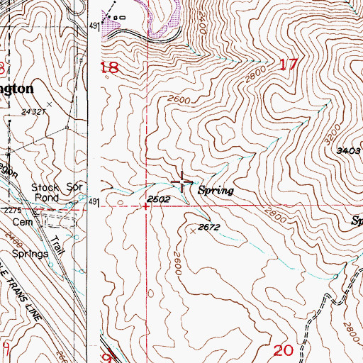 Topographic Map of Slaughterhouse Spring, OR