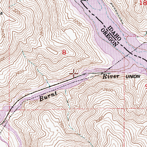 Topographic Map of Blakes Junction (historical), OR
