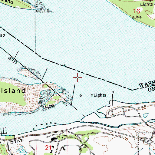 Topographic Map of Government Island Upper Range, OR