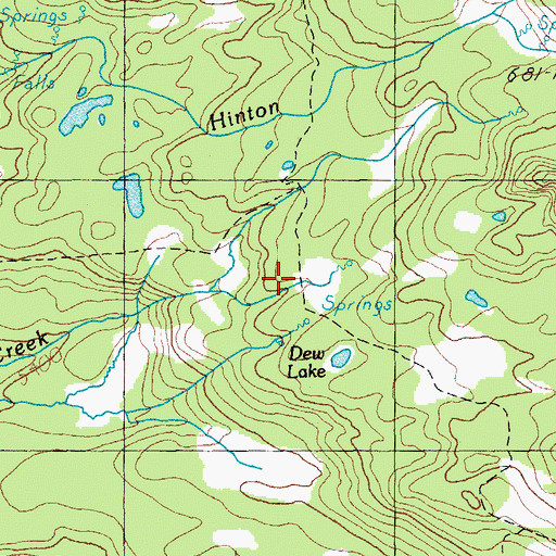 Topographic Map of James Creek Shelter, OR