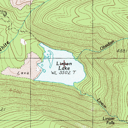 Topographic Map of Obsidian Creek, OR
