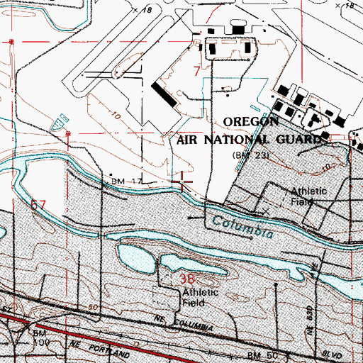 Topographic Map of Air Base Post Office (historical), OR