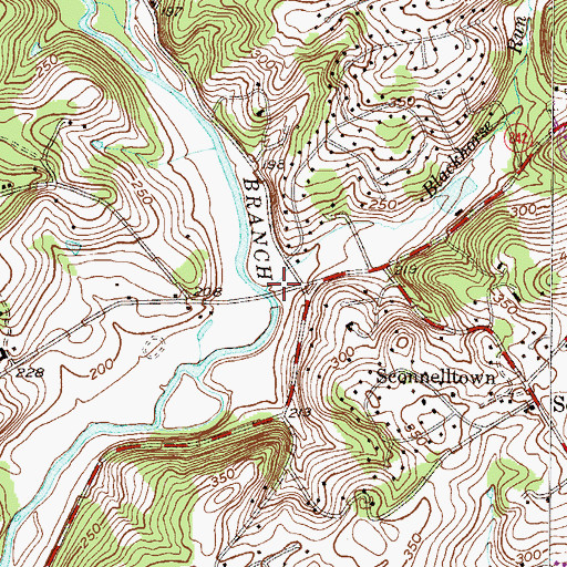 Topographic Map of Blackhorse Run, PA