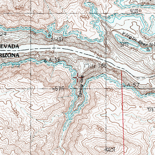Topographic Map of Spring Cove, AZ