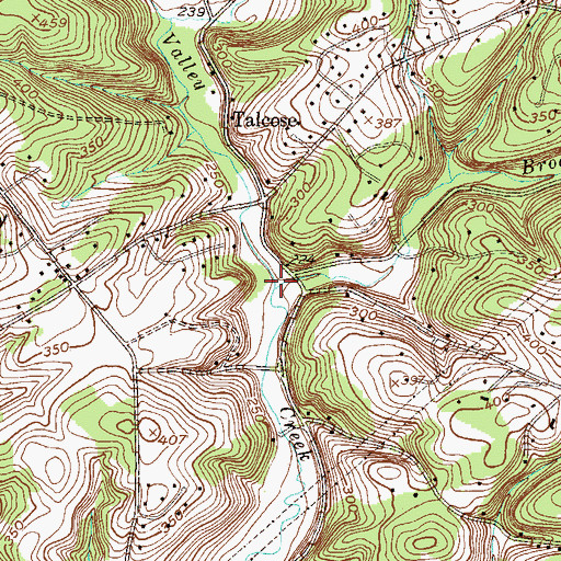 Topographic Map of Broad Run, PA