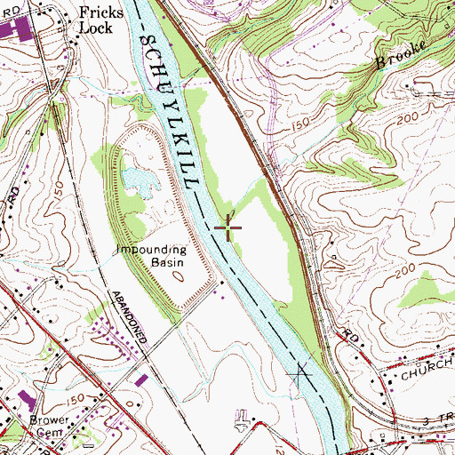 Topographic Map of Brooke Evans Creek, PA