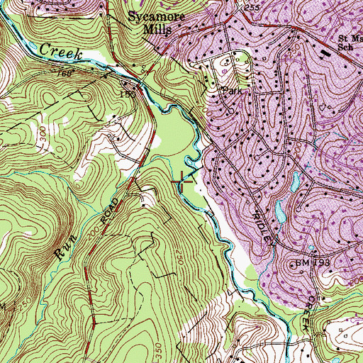 Topographic Map of Dismal Run, PA
