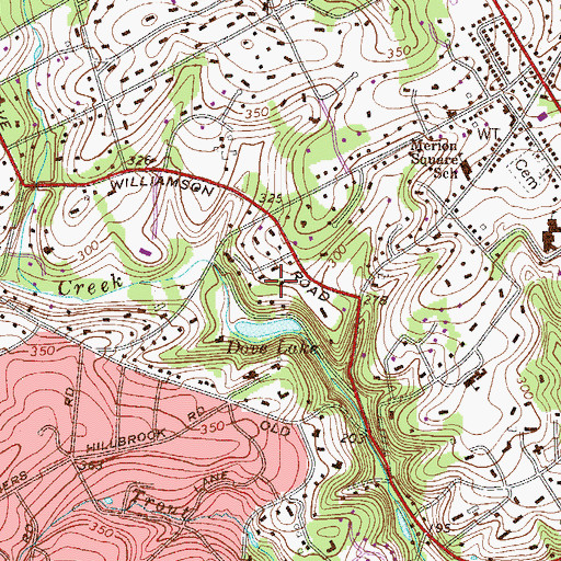 Topographic Map of Dove Lake, PA