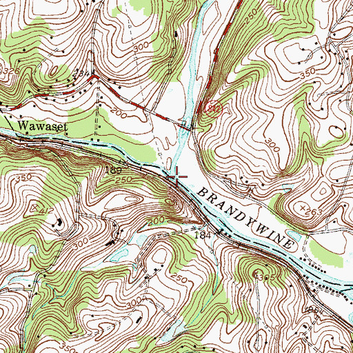 Topographic Map of East Branch Brandywine Creek, PA