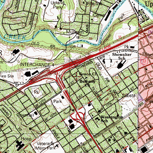 Topographic Map of Grace Church, PA