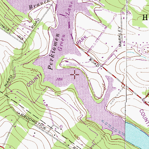 Topographic Map of Green Lane Reservoir, PA