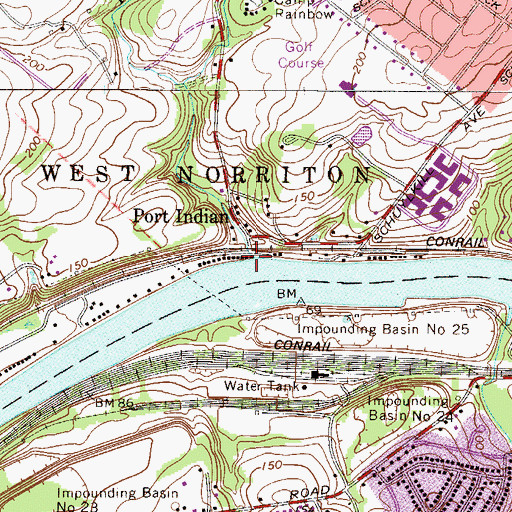 Topographic Map of Indian Creek, PA