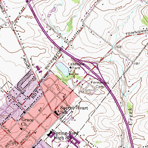 Topographic Map of Lakeview Park, PA