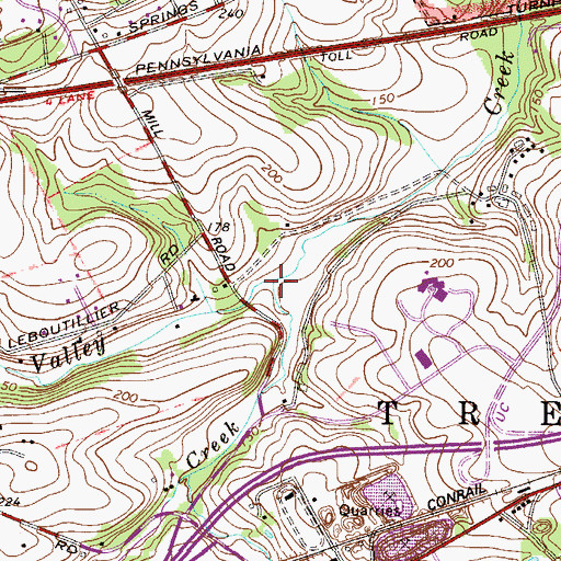 Topographic Map of Little Valley Creek, PA