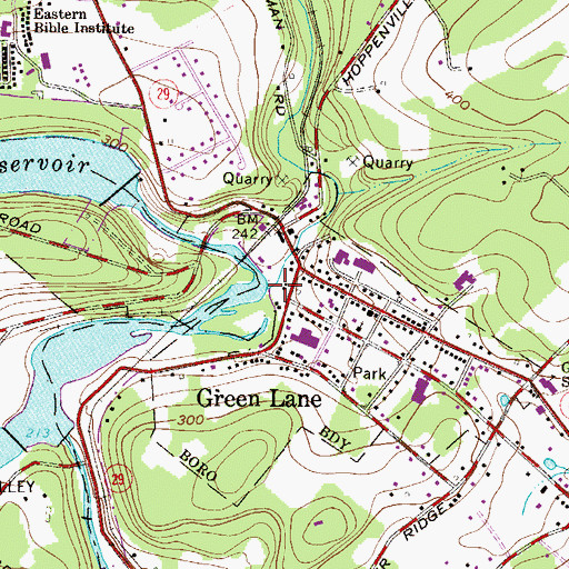 Topographic Map of Macoby Creek, PA