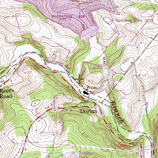 Topographic Map of Marsh Creek, PA