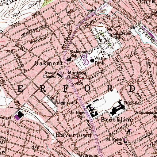 Topographic Map of Oakmont, PA