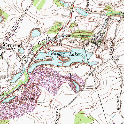Topographic Map of Ranger Lake, PA