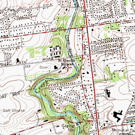 Topographic Map of Saint Francis Retreat, PA