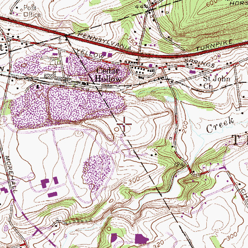 Topographic Map of Saint Peter Church, PA