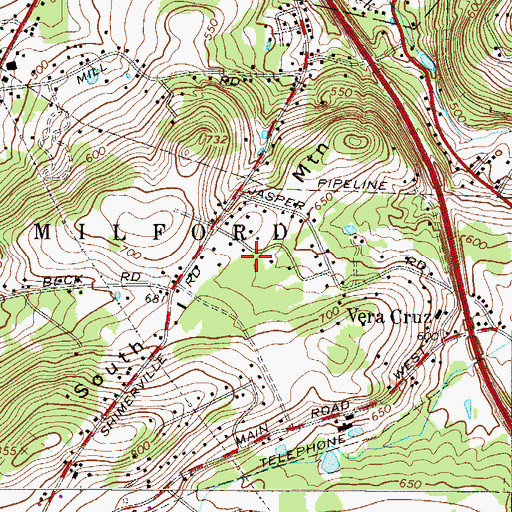 Topographic Map of South Mountain, PA