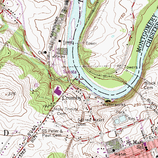 Topographic Map of Stony Run, PA