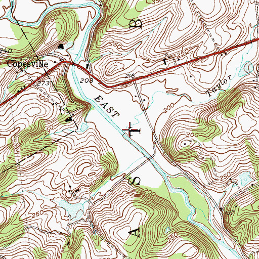 Topographic Map of Taylor Run, PA