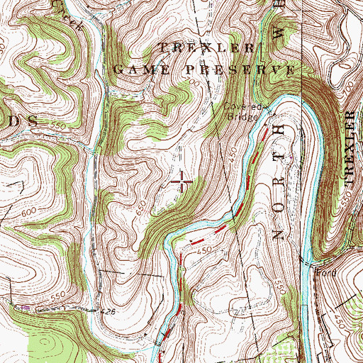 Topographic Map of Trexler Nature Preserve, PA