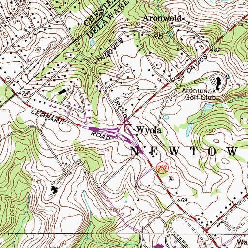 Topographic Map of Wyola, PA