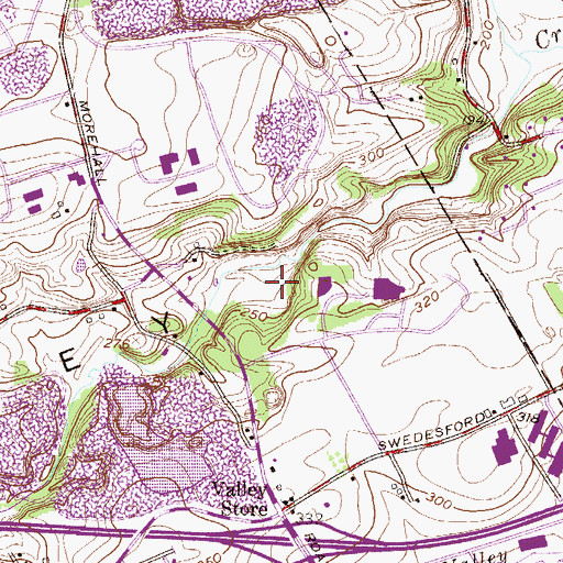 Topographic Map of Chester Valley, PA
