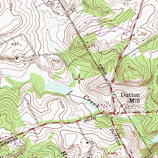 Topographic Map of Sinkler Lake, PA