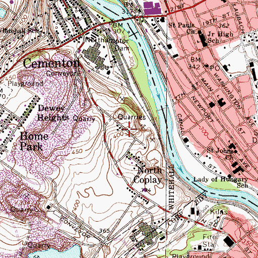 Topographic Map of Wellington, PA