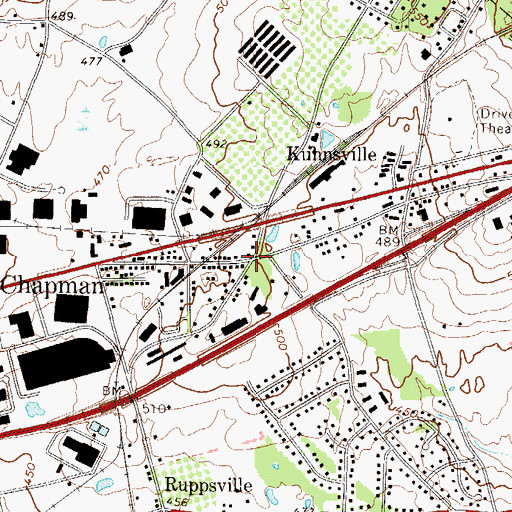 Topographic Map of Litzenberg, PA