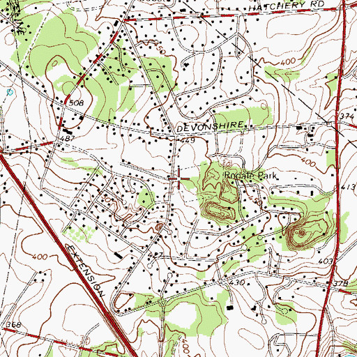 Topographic Map of Minesite, PA