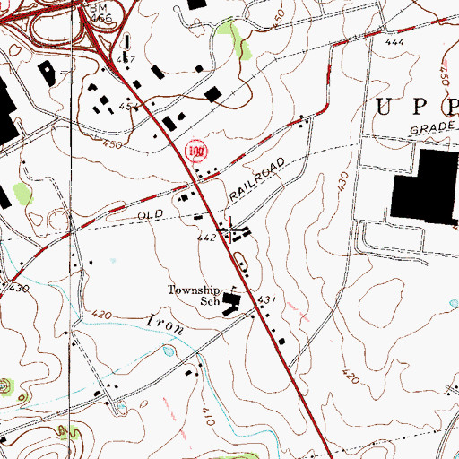 Topographic Map of Haines, PA