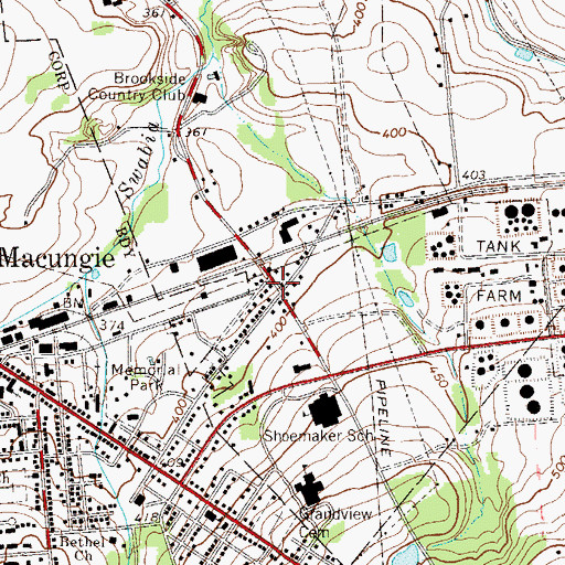 Topographic Map of Centreville, PA