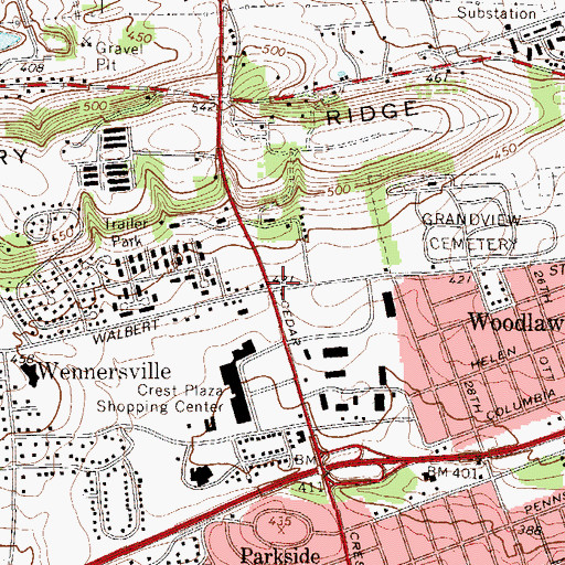 Topographic Map of Eckert (historical), PA