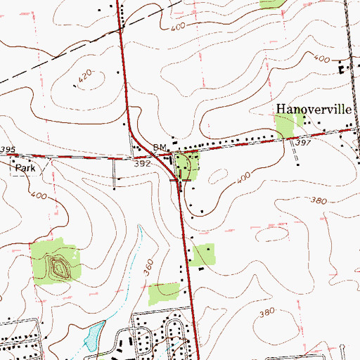 Topographic Map of Hay School, PA