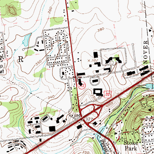 Topographic Map of Shimer, PA