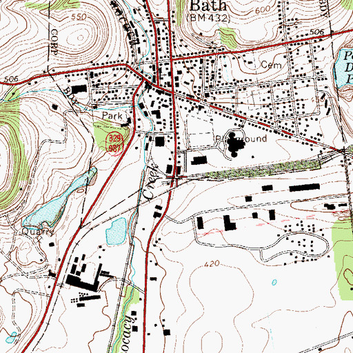 Topographic Map of Cement Junction, PA
