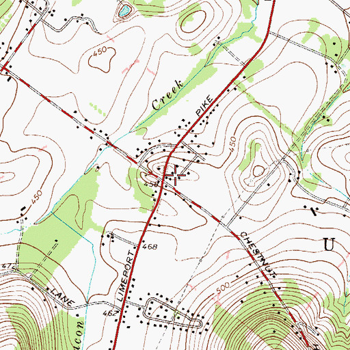 Topographic Map of Seiders School, PA