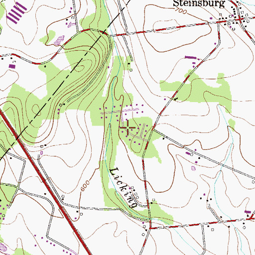 Topographic Map of Beechwood Acres, PA