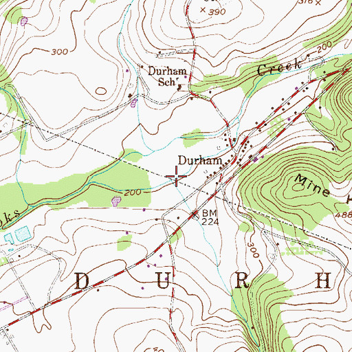 Topographic Map of Hollow Run, PA