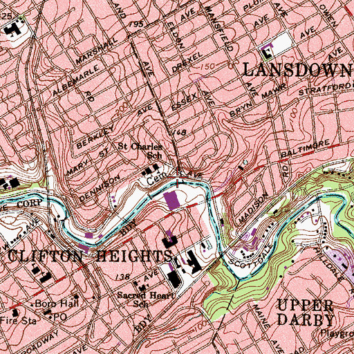 Topographic Map of Kellyville, PA