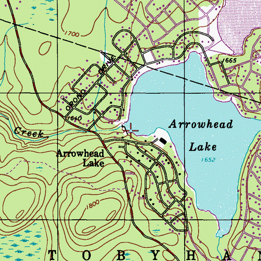 Arrowhead lake dam pa topographic map of arrowhead lake dam pa publicscrutiny Gallery