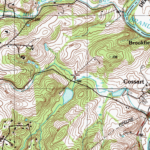 Topographic Map of Norway, PA
