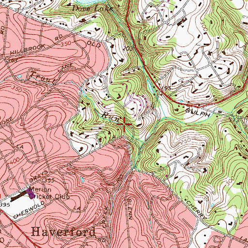 Topographic Map of Griscom Dam, PA