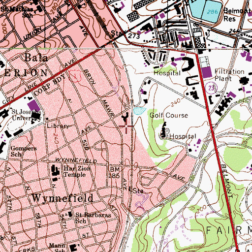 Topographic Map of Georges Run (historical), PA